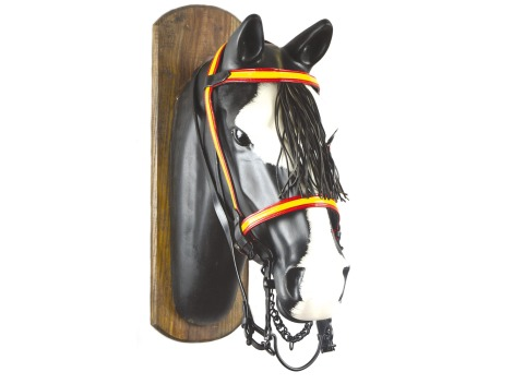Spanish vaquera flag bridle in leather
