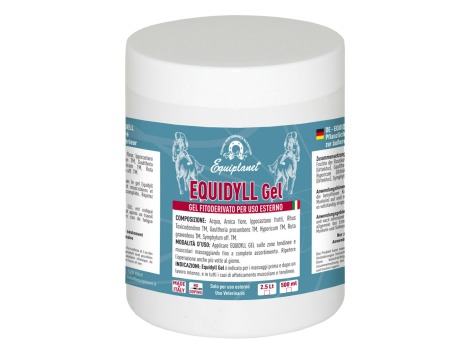 Equidyll Gel 500ml -  recommended for massages before, after intense work and in all cases of muscle or tendon fatigue